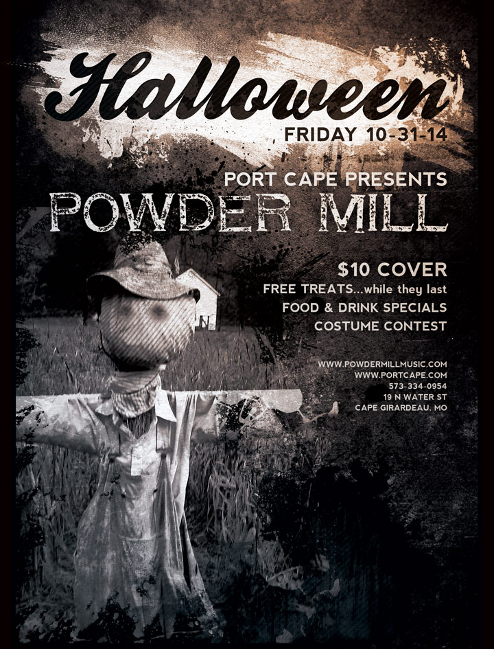 Poster for Powder Mill Halloween Show at Port Cape